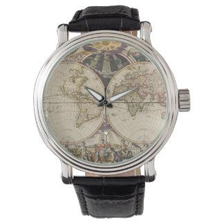 1702 eine neue Karte der Welt Uhr