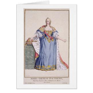 (1717-80) Kaiserin Maria Theresa Österreich, von ' Karte