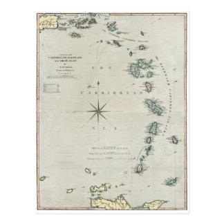 1789 karibische Inseln Postkarte