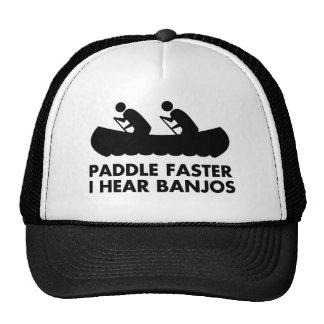 $17,95 Paddel schneller höre ich Banjo-Hut Retrokult Cap