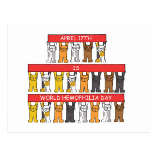 17. April Welthämophilie-Tag Postkarten