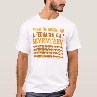 17. Felsen-Weiß und Gold des Geburtstags-dreizehn T-Shirt