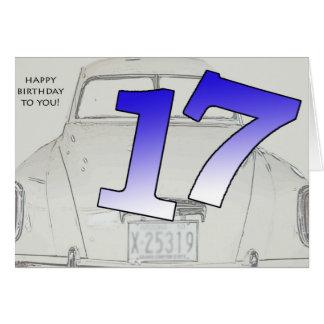 17. Geburtstag Karte