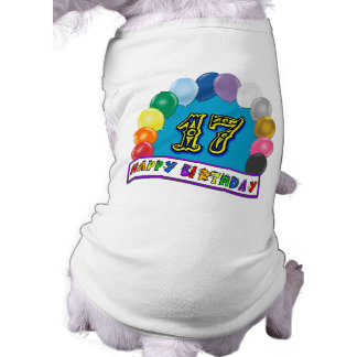 17. Geburtstags-Geschenke mit sortiertem Ballon-En Hunde Shirt