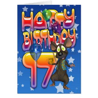 17. Geburtstags-Karte, alles Gute zum Geburtstag Karte