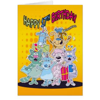 17. Geburtstags-Karte - Moonies Doodlematoons Grußkarte