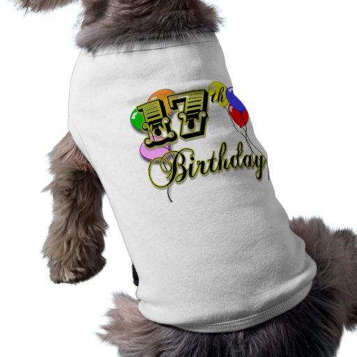 17. Geburtstags-Waren Hundekleidung