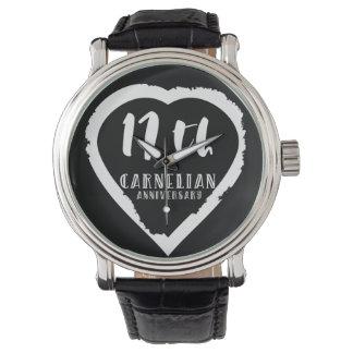 17. Hochzeitstag traditioneller Carnelian Armbanduhr