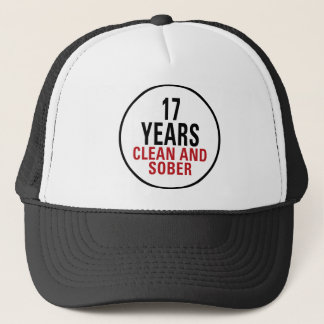 17 Jahre säubern und ernüchtern Truckerkappe