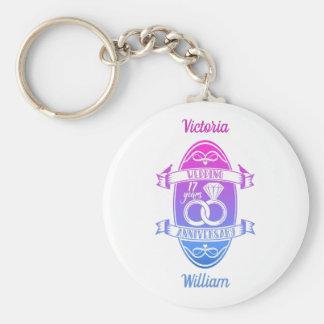 17-jähriger 17. Hochzeitstag Schlüsselanhänger