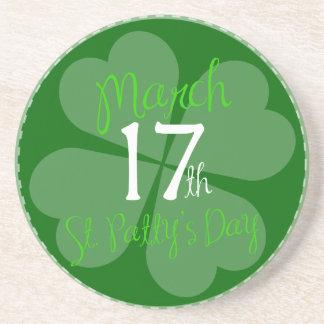 17. März Feier St. Pattys Tages Getränkeuntersetzer