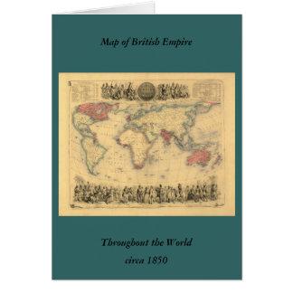 1850's Karte des Britischen Imperiums weltweit