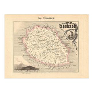 1858 Karte - Ile Bourbon (La-Wiedersehen) -