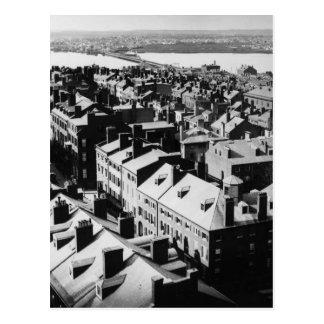 1859: Die Stadt von Boston, Massachusetts Postkarte