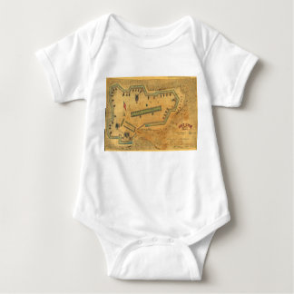 1862 ziviles Kriegs-Karten-Fort Lyon Alexandria Baby Strampler