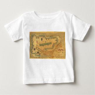 1862 ziviles Kriegs-Karten-Fort Lyon Alexandria Baby T-shirt