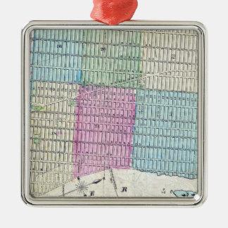 1870 Karten-New- York CityCentral Park Silbernes Ornament