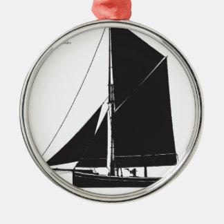 1873 Bawley - tony fernandes Rundes Silberfarbenes Ornament