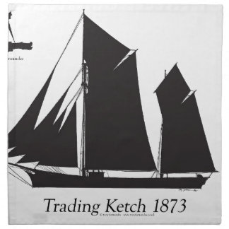 1873 Handelsketch - tony fernandes Stoffserviette