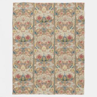 1875 Vintage Blumenstickerei Williams Morris Fleecedecke