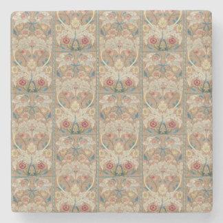 1875 Vintage Blumenstickerei Williams Morris Steinuntersetzer