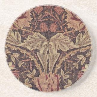 1876 Vintages Geißblatt Williams Morris Sandstein Untersetzer