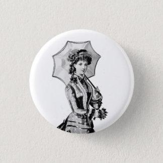 1879 viktorianisches Damen-Abzeichen Runder Button 3,2 Cm