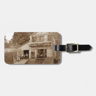 1880's Mann-Vereinfox-Fluss-Verein, der Elgin Gepäckanhänger