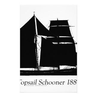1883 topsail Schooner - tony fernandes Briefpapier
