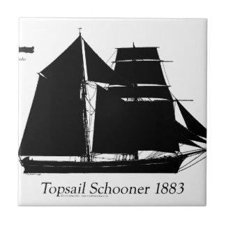 1883 topsail Schooner - tony fernandes Fliese