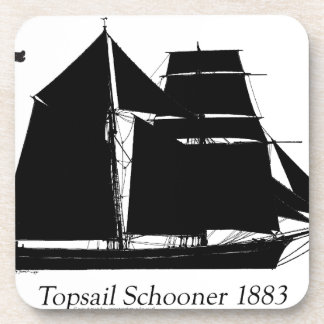1883 topsail Schooner - tony fernandes Getränkeuntersetzer