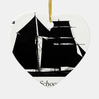 1883 topsail Schooner - tony fernandes Keramik Ornament