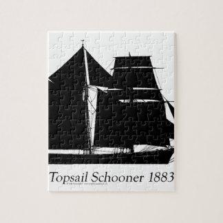 1883 topsail Schooner - tony fernandes Puzzle