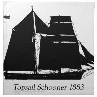1883 topsail Schooner - tony fernandes Stoffserviette