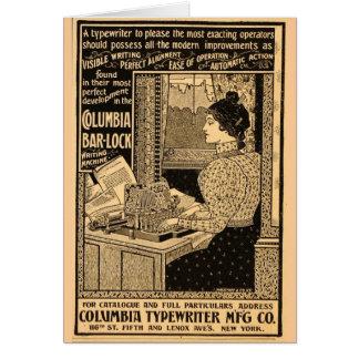 1890's Sekretär an der Schreibmaschine Karte