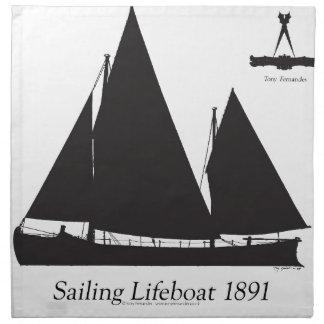 1891 segelndes Rettungsboot - tony fernandes Stoffserviette