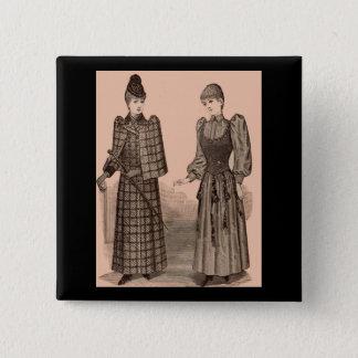 1895 Delineatordruckdamen Mantel und Kleid Quadratischer Button 5,1 Cm