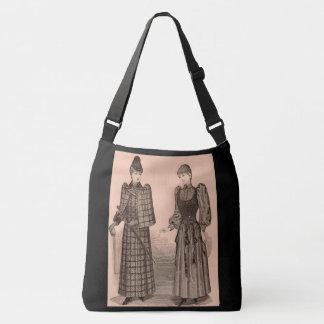 1895 Delineatordruckdamen Mantel und Kleid Tragetaschen Mit Langen Trägern