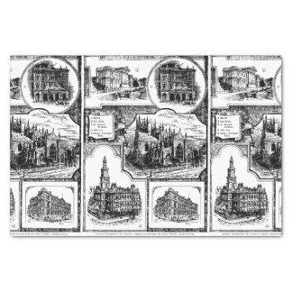 1896 Vintages Sydney Australien Seidenpapier