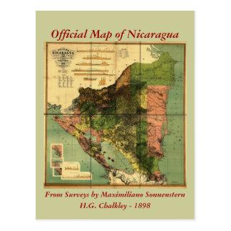 1898 offizielle Karte Nicaragua