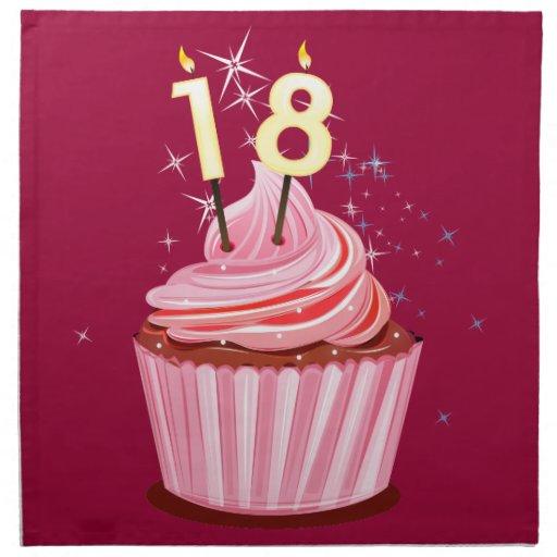 18 geburtstag rosa kleiner kuchen servietten zazzle. Black Bedroom Furniture Sets. Home Design Ideas