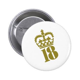 18. Geburtstag - Zahl - achtzehn Runder Button 5,7 Cm
