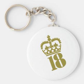18 Geburtstag - Zahl - achtzehn Schlüsselbänder