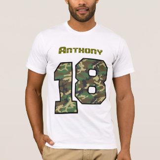 18. Geburtstags-Camouflage ein Jahr-individueller T-Shirt
