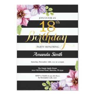 18. Geburtstags-Einladungs-Frauen. Karte