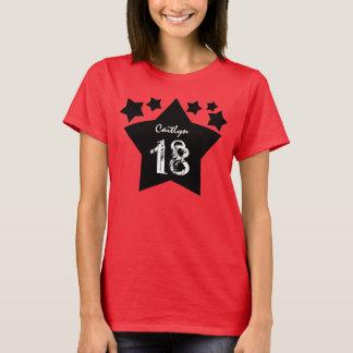 18. Geburtstags-Geschenk hat individuellen Namen T-Shirt