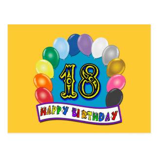 18. Geburtstags-Geschenke mit sortiertem Postkarte