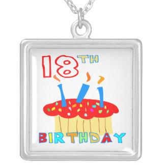 18. Geburtstags-Halskette Halskette Mit Quadratischem Anhänger