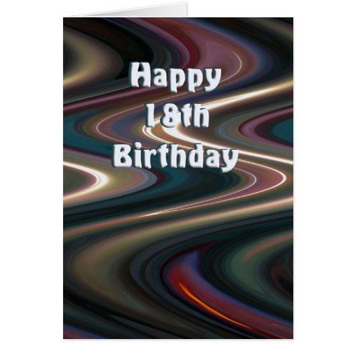 18. Geburtstags-Karte