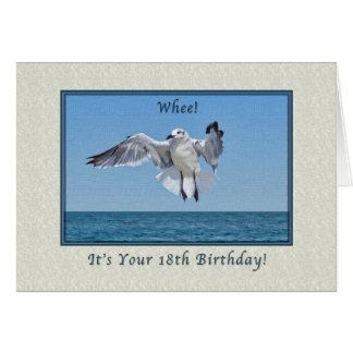 18. Geburtstags-Karte mit lachende Möven-Vogel Karte